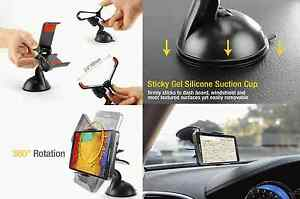 Black-Mount-Windshield-Car-Holder-with-Sticky-Pad-Cell-Phone-Universal-New