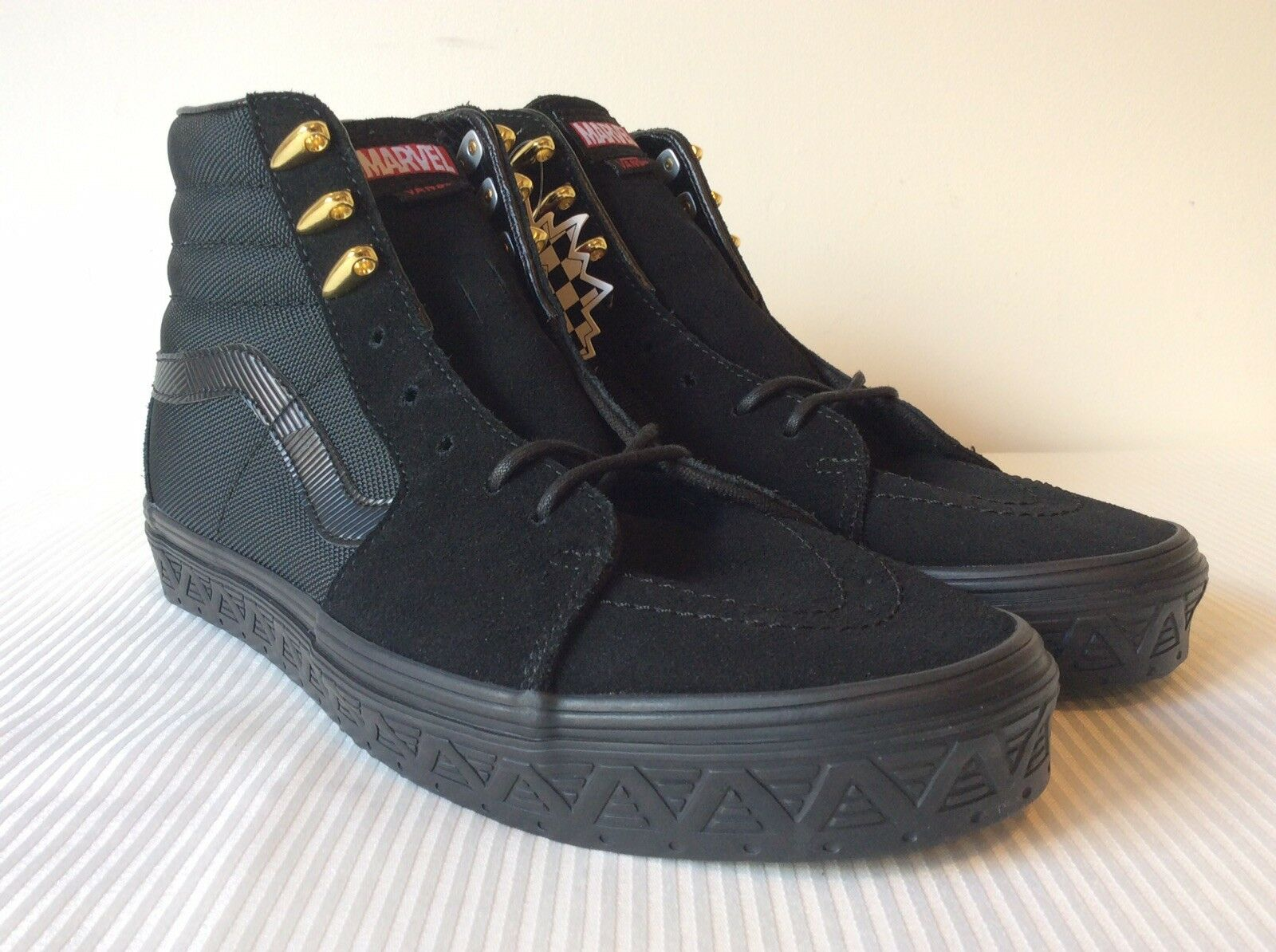 a02b4b4882f6fb VANS X Marvel Black Panther Sk8 Hi Limited Edition Avengers SNEAKERS ...
