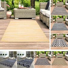 Teppich Outdoor Indoor Wetterfest Balkon Terrasse Flur Modern Beige Grau Gelb