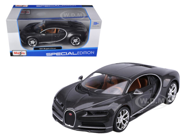 BUGATTI CHIRON GREY 1:24 DIECAST MODEL CAR BY MAISTO 31514