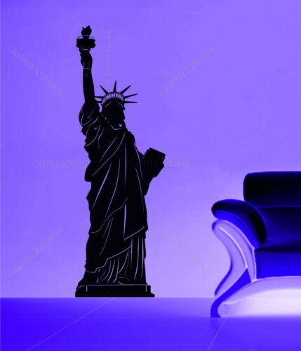 Statue of Liberty New York United States Decorative Vinyl Wall Sticker Decal