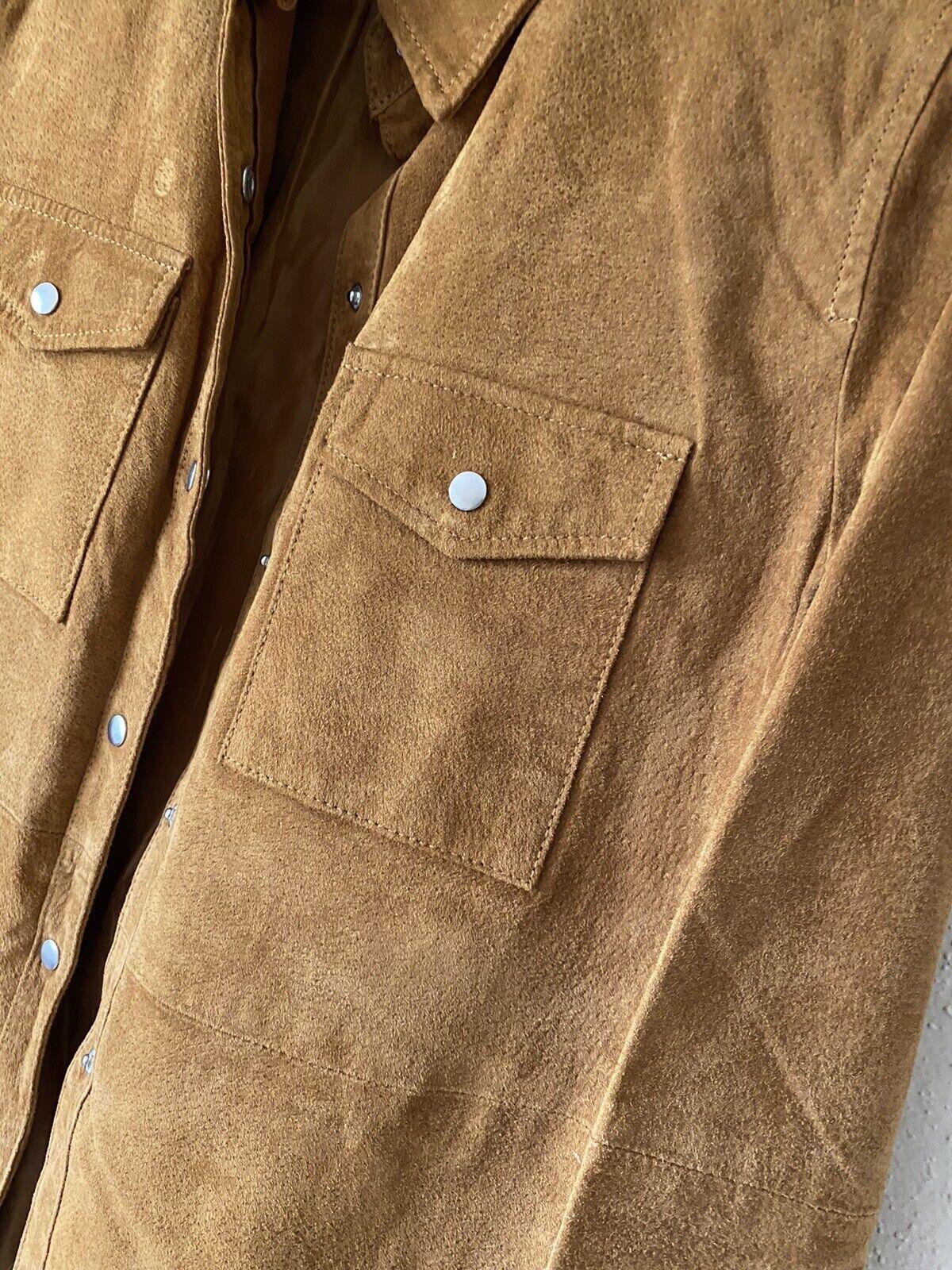 forever 21 leather jacket Shirt Size M - image 7