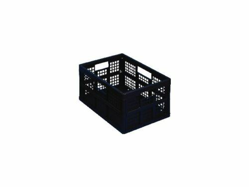 10 x /'REALLY USEFUL STORAGE BOXES/'  FOLDING CRATES BLACK 32 LITRE  NEW 24h