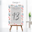 Personalised-Wedding-Table-Numbers-Floral-Theme-Party-Name-Cards-A5-A6-A7 thumbnail 6
