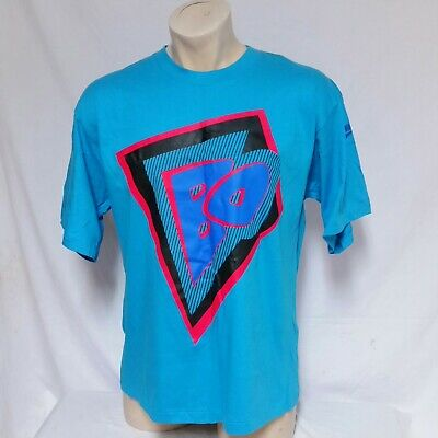 Vintage 80s NIKE AIR Teal Single Stitched T Shirt Neon Logo Sz Large Made In USA | eBay