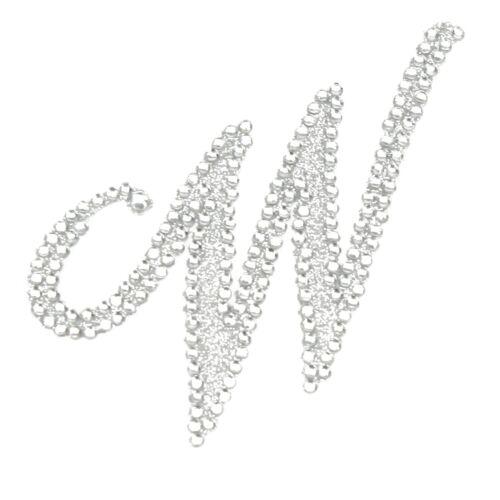 Strass alphabet monogramme Stickers Lettre Initial Wedding Favor invitation