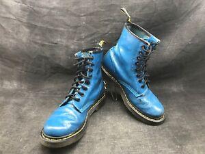 DOC-MARTENS-bleue-fleur-relief-1460-8-trous-Taille-UK-4-point-37