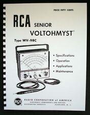 Rca Senior Voltohmyst Wv 98c Manual Wv98c