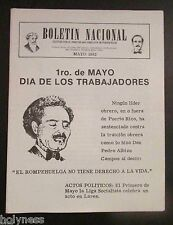 BOLETIN NACIONAL / PARTIDO NACIONALISTA DE PUERTO RICO / NEWSLETTER / MAY 1982