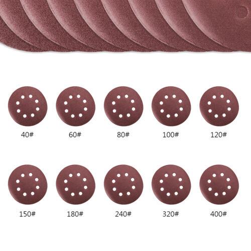 80 Klett Exzenter Schleifscheiben 125 mm 8 Loch kletthaftend Schleifpapier
