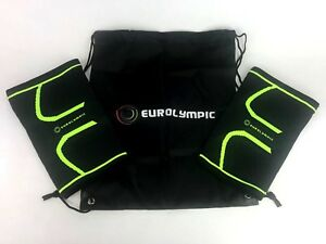 71bd70936 Details about Pack of 2 Eurolympic lightweight compression runners knee  brace And Gym bag MD