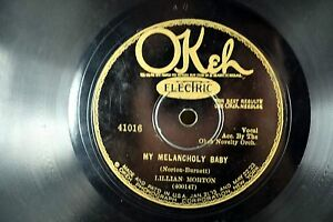 Lillian-Morton-Jazz-Okeh-78RPM-Louis-Armstrong-039-s-Wife-My-Melancholy-Baby-A4