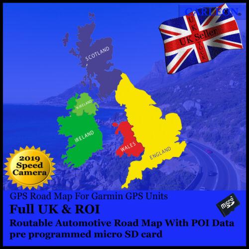 speed camera Full UK /& ROI For use on Garmin GPS//Sat Nav 2019 New Maps GSpec