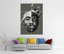 2pac Biggie Smalls TUPAC Notorious B.i.g Wall Art foto STAMPA POSTER