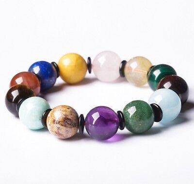 Multi color Natural Stone Birth Stone Birthday Women's Fashion Bracelet T2