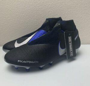 Nike Phantom VSN Vision Elite DF FG Soccer Cleats Black/Blue AO3262-004 Size 5.5