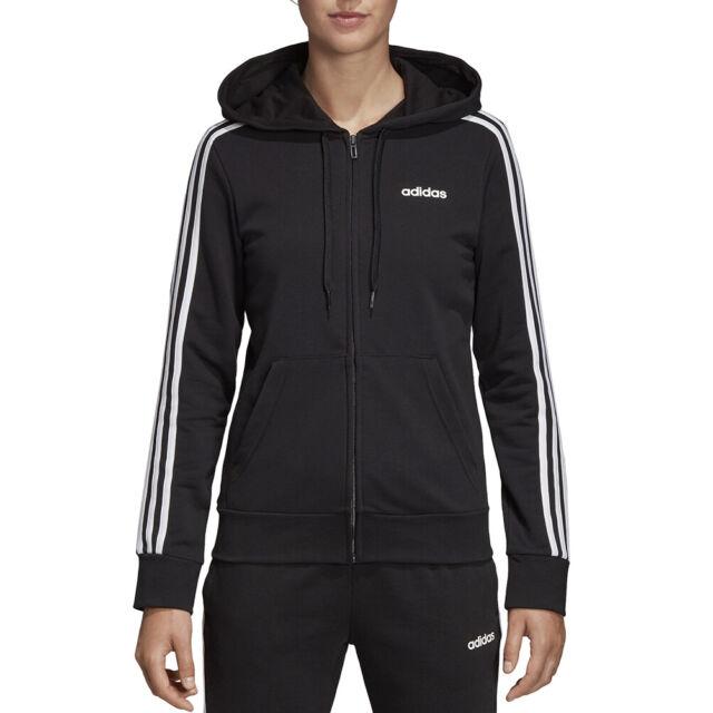 Adidas Felpa Donna Essentials Linear Fleece Nera Taglia L cod Dp2417 9w