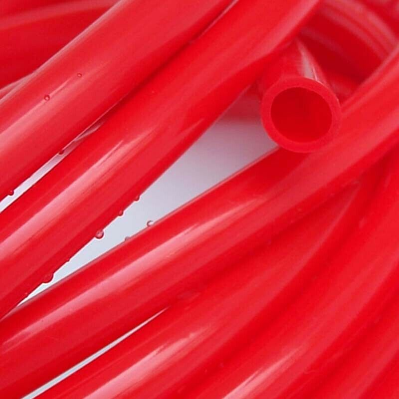 1x3mm to 25x31mm ID x OD Food Grade Silicone Flexible Tubing High Temp Hose rouge