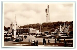 Postcard North Cascade and Tower Empire Exhibition Scotland 1938 real photo