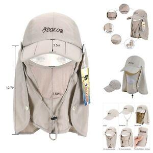a449f90e25075e Fishing Garden Sun Cap Solar Protection Shade Hat Neck & Face Flap ...