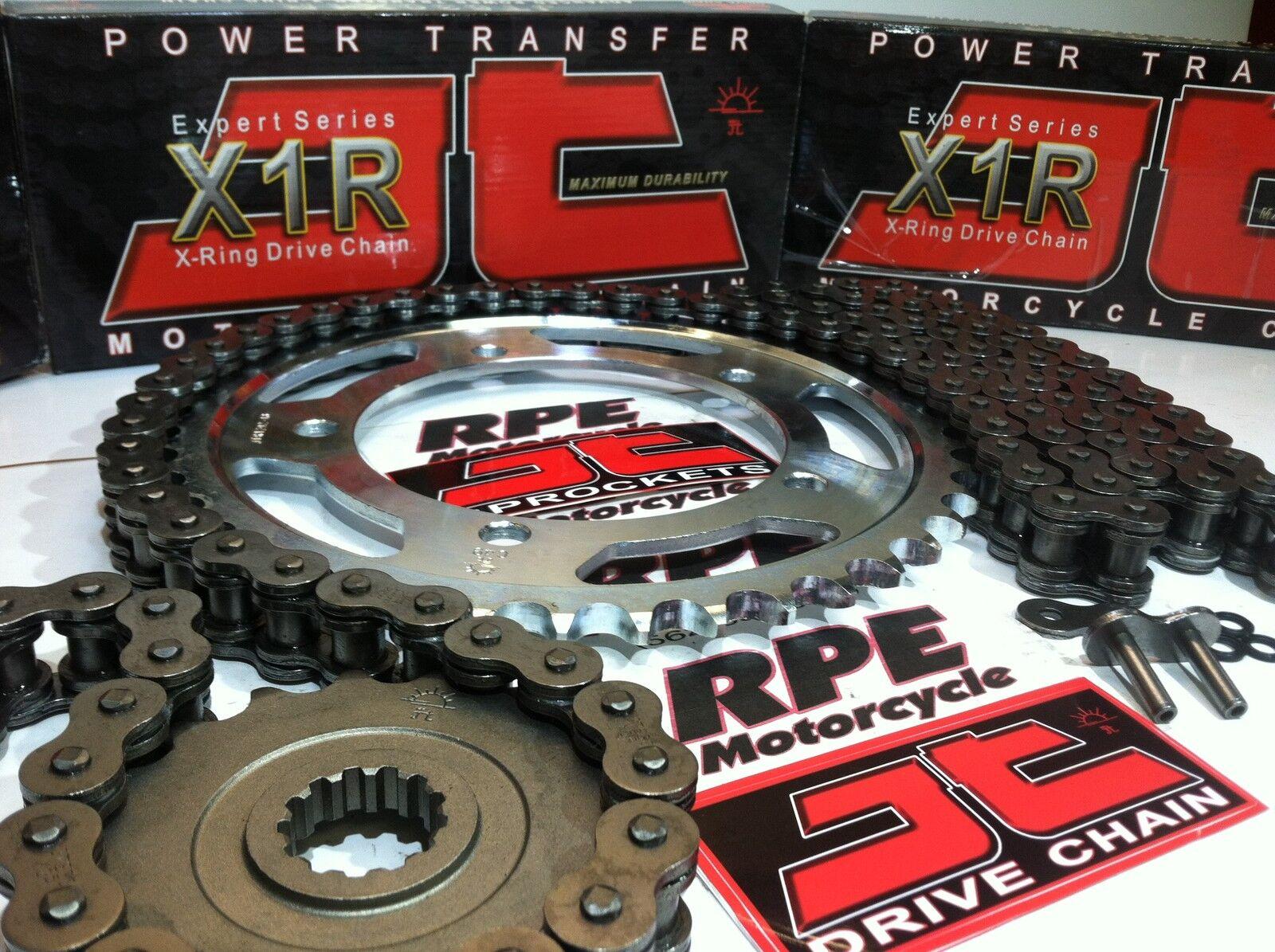 DID Heavy Duty X-Ring Chain /& JT Sprocket Kit Set Suzuki GSXR1000 2001 to 2006