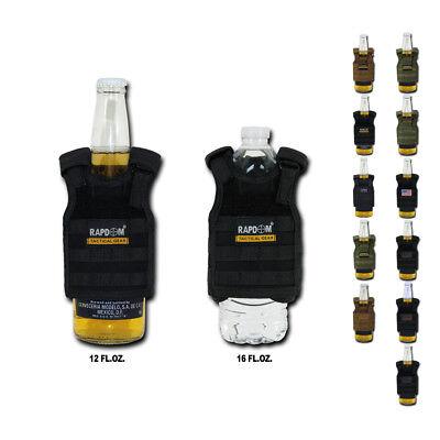 Tactical Vest MOLLE Beer Soda Water Can Bottle Cooler Carrier Insulator 16oz New