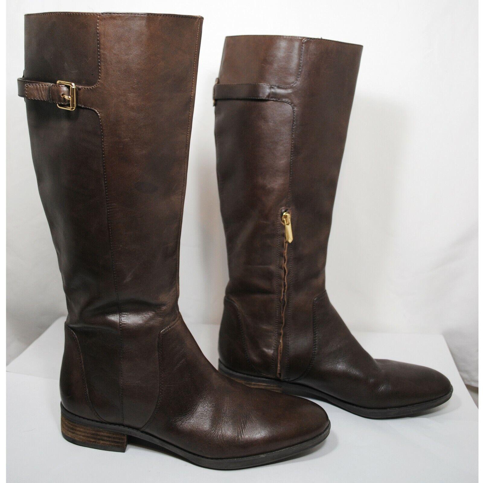 Sam Edelman Patton Espresso Brown Leather Riding Boot Women's US11 M