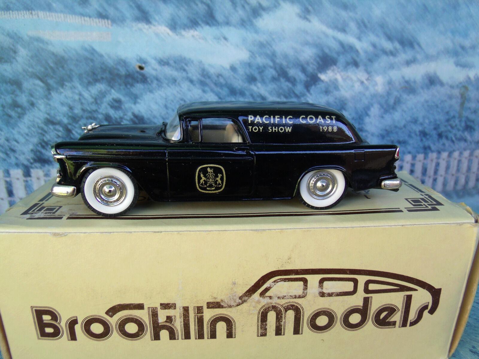sin mínimo 1 43 Brooklin Brooklin Brooklin modelos Chevrolet Nomad Van 1955 Brk 26x Metal blancoo  ¡no ser extrañado!