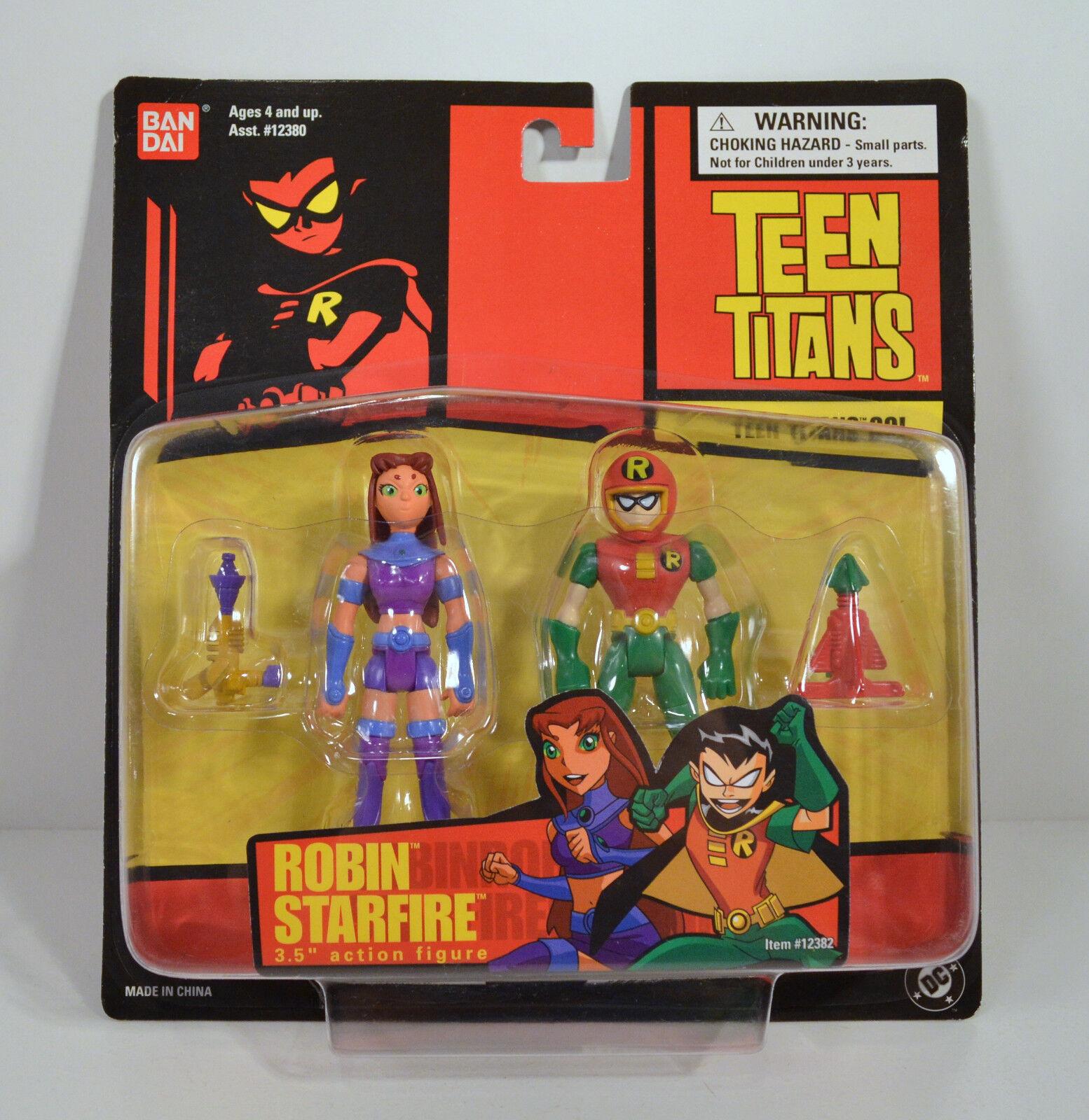 RARE 2003 2004 estrellafire & Robin  3.5  Beai 2 azione cifra Pair Teen Titans Go  vendita outlet