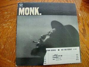 Thelonious Monk Self Titled Wht Lable Promo Columbia Mono Lp Excellent Vinyl