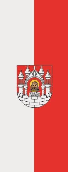 Fahne Flagge Merseburg im Hochformat verschiedene Größen