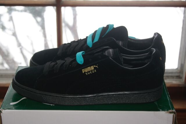 huge selection of 17a18 29db0 Mens PUMA Suede Classic Black Beetroot Purple 10 or 11