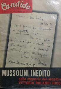 CANDIDO-N-49-1957-MUSSOLINI