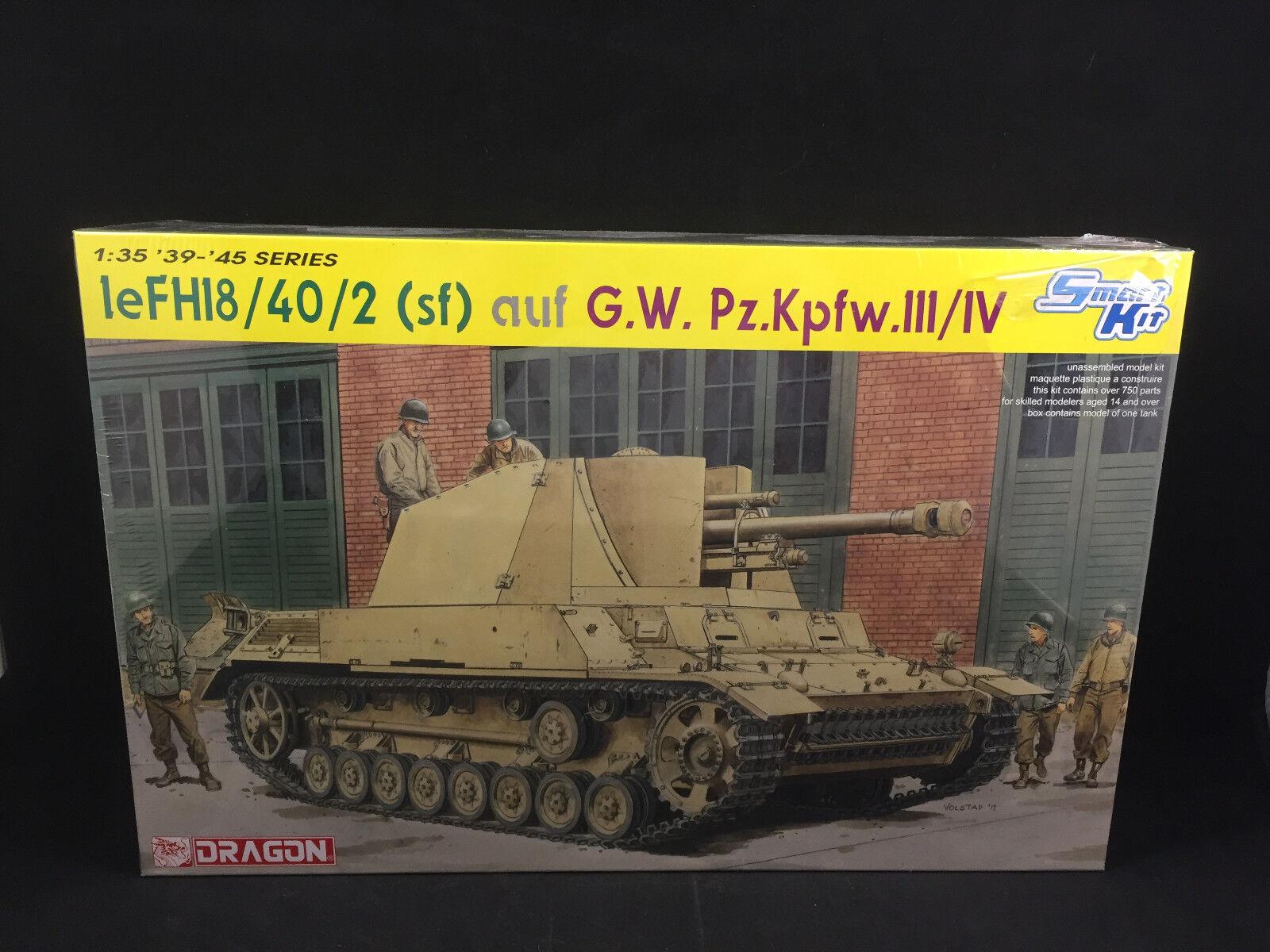 Dragon Models leFH18 40 2 (sf) auf G.W. Pz.Kpfw.111 IV 1 35 Scale Model Kit 6710