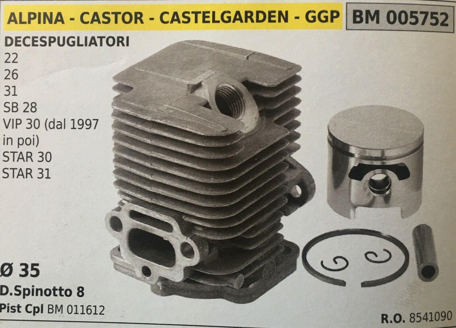 Cilindro Completo por Pistón y Segmentos Brumar BM005752 Alpina-Castor y Otros