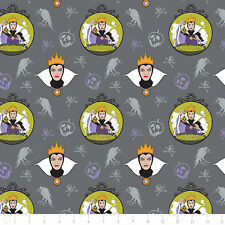 Camelot Disney Snow White Villain Evil Queen Iron 100% Cotton fabric by the yard