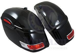 Image Is Loading Mutazu Universal Rs Hard Bags Motorcycle Saddlebags W
