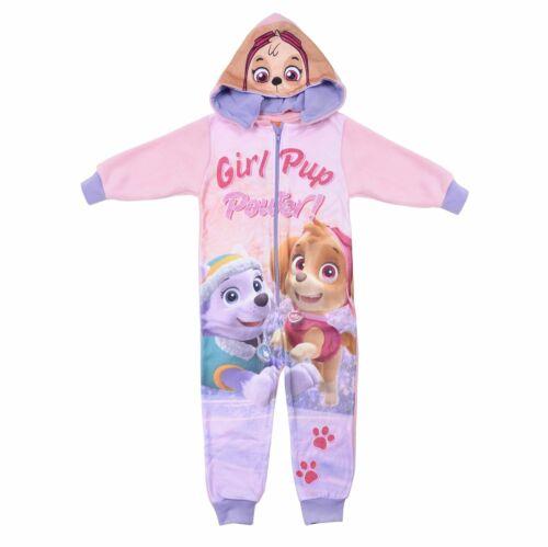 PAW Patrol Hooded All In One Pyjamas Pjs Soft Warm Fleece