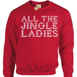 Tutti-gli-Jingle-Donna-Divertente-Natale-Felpa-Regalo-Natale-Maglione-Uomo-Donna