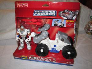 Fisher-Price Hero World DC Super Friends Cyborg and ATV