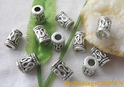 60pcs Tibetan Silver barrel spacer beads 8x6mm FC1784