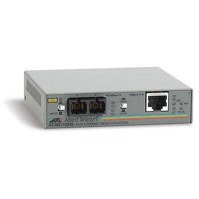 convertisseur RJ45/fibre optique converter ethernet/fiber ALLIED AT-MC102XL NEW