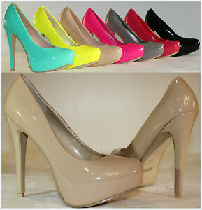 Brand-New-Women-039-s-Fashion-Sexy-Enamel-High-Heel-Stilettos-Platform-Pumps