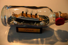 Ship in a Bottle TITANIC SINKING Made in Hamburg! New Item. Icebergs ahead!