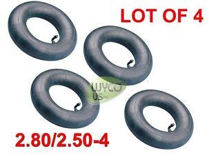 FOUR (4) INNER TUBES, HEAVY DUTY 2.80/2.50-4, 250-4, 2.80X2.50-4, GO KARTS, 4X4