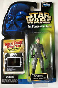 NEW-Star-Wars-POTF-Captain-Piett-with-Blaster-Rifle-amp-Pistol-Kenner-1997