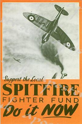 Seconda GUERRA MONDIALE RAF Smashing tedesca del settore Propaganda poster A3//A4 stampa
