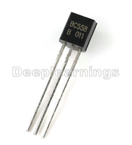 50Pcs BC558 BC558B TO-92 PNP 30V 0.1A Transistor