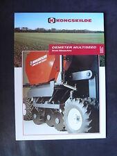 0054) KONGSKILDE Demeter Multiseed - Direkt Sämaschine - Prospekt Brochure 90er