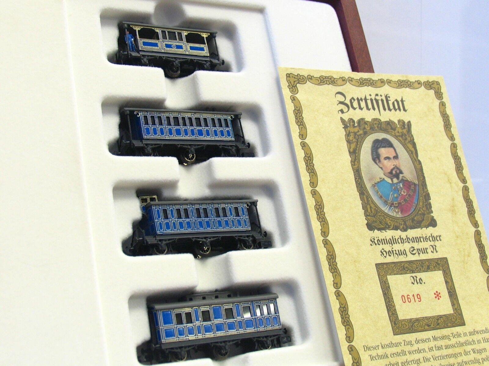 Arnold   Railex N 0241 4er Set  königlicher Hofzug  in Holzschatulle OVP (V6131)